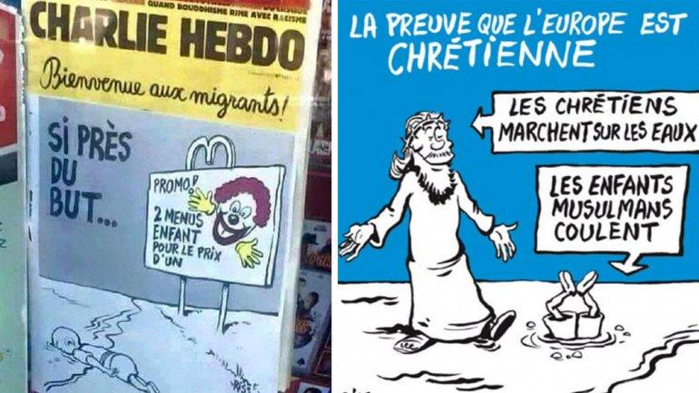 La cruda portada de Charlie Hebdo sobre Aylan Kurdi y los refugiados